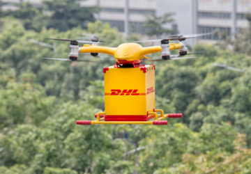dhl express dron china