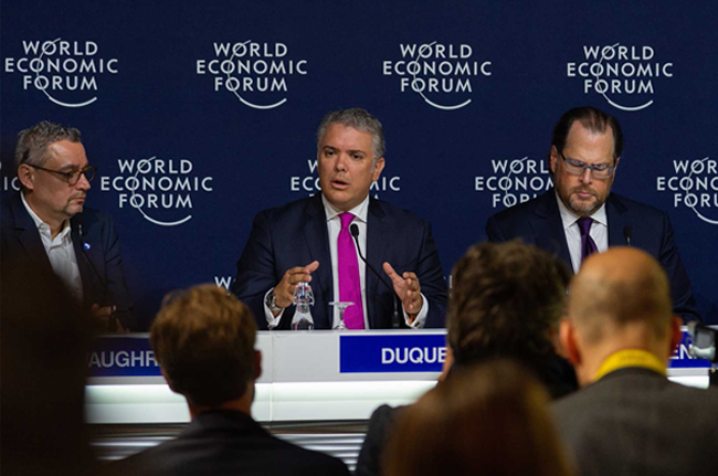 colombia davos