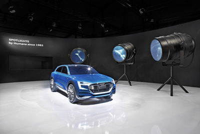 """Audi at Design Miami: Into an Electric Future – Installation """"Spotlights"""". © Andreas Keller for AUDI AG"""