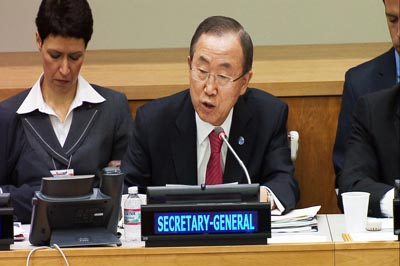 Ban Ki-moon, secreatario general de la ONU